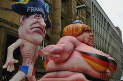 Angela Merkel y François Hollande Fotos de archivo libres de regalías