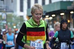 Angela is running the marathon Royalty Free Stock Photo