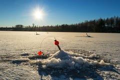 Angeldon - σουηδικό σύστημα αλιείας λούτσων το χειμώνα Στοκ Εικόνα