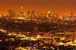 Angeles κάτω από την πόλη Los Στοκ Φωτογραφία