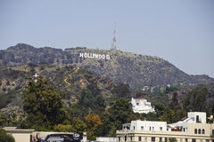 angeles califoriniahollywood los tecken Arkivbilder