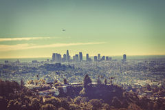 angeles cityscape los royaltyfri fotografi