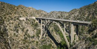 Angeles Forest Bridge Panorama View fotografia stock