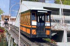 angeles funicular los järnväg royaltyfria bilder