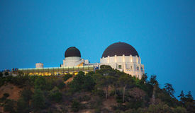 angeles griffith los observatorium arkivfoton