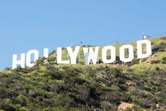 angeles hollywood los tecken royaltyfri foto