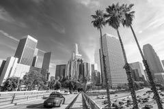 angeles i stadens centrum los horisont Arkivfoto