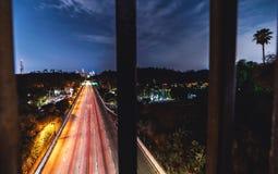 angeles i stadens centrum los natt Royaltyfri Foto