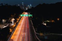 angeles i stadens centrum los natt Arkivbilder