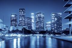 angeles i stadens centrum los natt Royaltyfri Fotografi