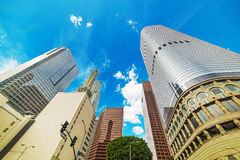 angeles i stadens centrum los skyskrapor Arkivfoton