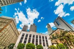 angeles i stadens centrum los skyskrapor Royaltyfria Bilder