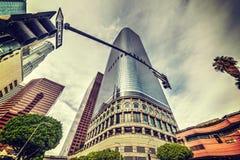 angeles i stadens centrum los skyskrapor Royaltyfri Foto
