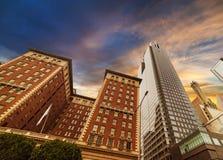 angeles i stadens centrum los skyskrapor Fotografering för Bildbyråer