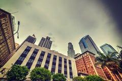 angeles i stadens centrum los skyskrapor Royaltyfri Bild