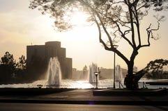 angeles i stadens centrum springbrunnar los Arkivbild