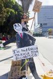 angeles la los upptar protestgataväggen Arkivbilder