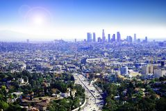 Angeles Los ηλιόλουστη Στοκ φωτογραφία με δικαίωμα ελεύθερης χρήσης