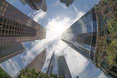 angeles los skyskrapor arkivfoto