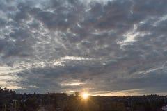 angeles los solnedgång Royaltyfri Foto