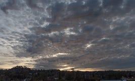 angeles los solnedgång Arkivfoto