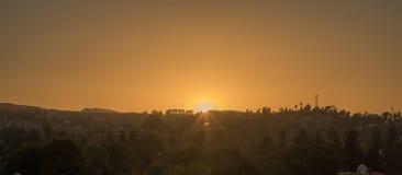 angeles los solnedgång Royaltyfri Bild