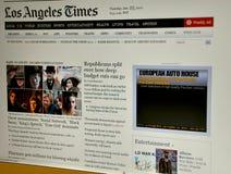 angeles los times website Royaltyfria Foton