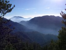 Angeles Mountain Haze Stock Image