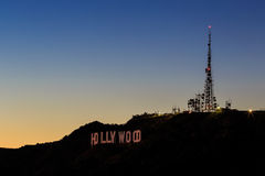 angeles znak Hollywood los Fotografia Royalty Free