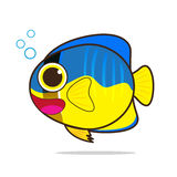 Angelfish cute cartoon Stock Image