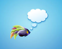 Angelfish with speech bubbles. Stock Image