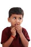 angelägen pojke Royaltyfria Bilder