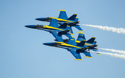 Angeli blu Airshow della marina statunitense fotografie stock