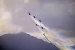 Angeli blu a Kaneohe Airshow fotografie stock libere da diritti