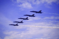 Angeli blu a Kaneohe Airshow fotografia stock libera da diritti