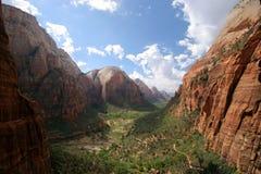 Angeli che atterrano traccia Zion National Park fotografia stock