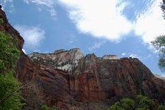 Angeli che atterrano a Zion National Park fotografia stock libera da diritti