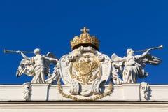 Angeli che glorificano le insegne austriache di potenza Fotografia Stock Libera da Diritti
