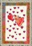 Angeli con cuore Immagini Stock