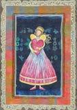 Angeli con cuore Fotografia Stock Libera da Diritti