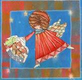 Angeli con la borsa Immagini Stock Libere da Diritti