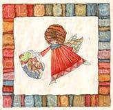 Angeli con la borsa Fotografia Stock