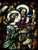Angeli da una chiesa Fotografie Stock Libere da Diritti