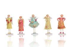 Angeli dei biglietti di S. Valentino Fotografia Stock
