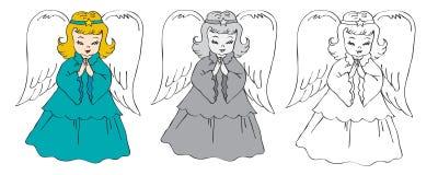 Angeli di Natale Immagine Stock