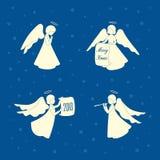 Angeli e stelle di Natale illustrazione di stock