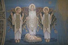Angeli, mosaico, supporto Tabor, basilica della trasfigurazione Immagine Stock