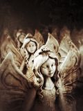 Angeli religiosi santi di simbolo di Cristianità Immagini Stock