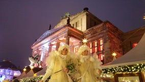 Angeli su un mercato di Natale a Berlino Fotografia Stock Libera da Diritti