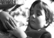 Angelic. Young boy asleep Stock Images